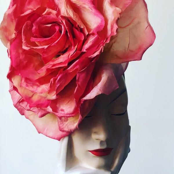 big silk rose