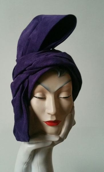 Purple turban suede