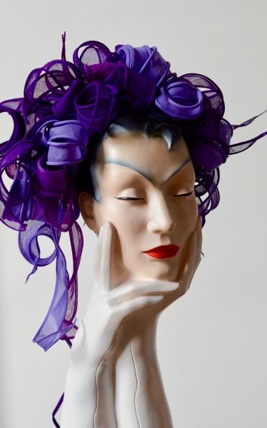 purple curls organdie