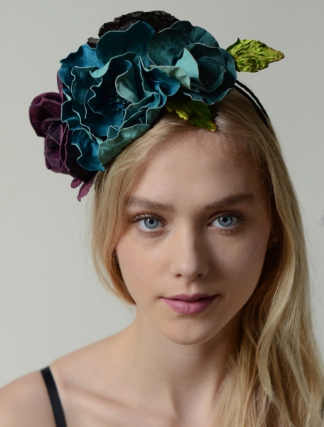 leather fascinator flowers