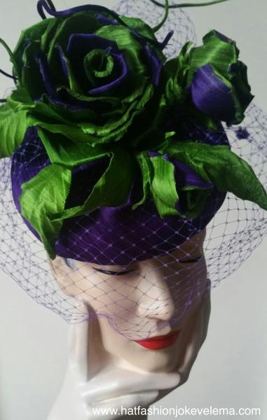 abaca silk purple green