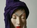 Purple turban suede